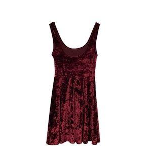 Topshop Burgundy Velvet Dress
